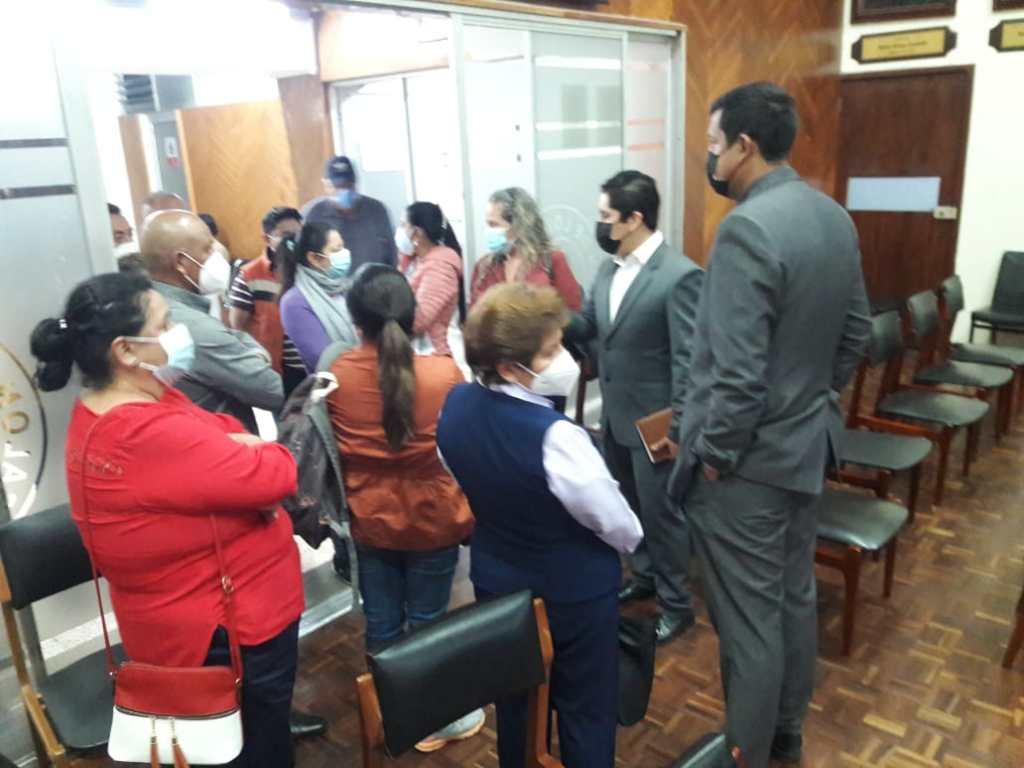 La reunión se desarrolló en las instalaciones del Municipio de Loja.