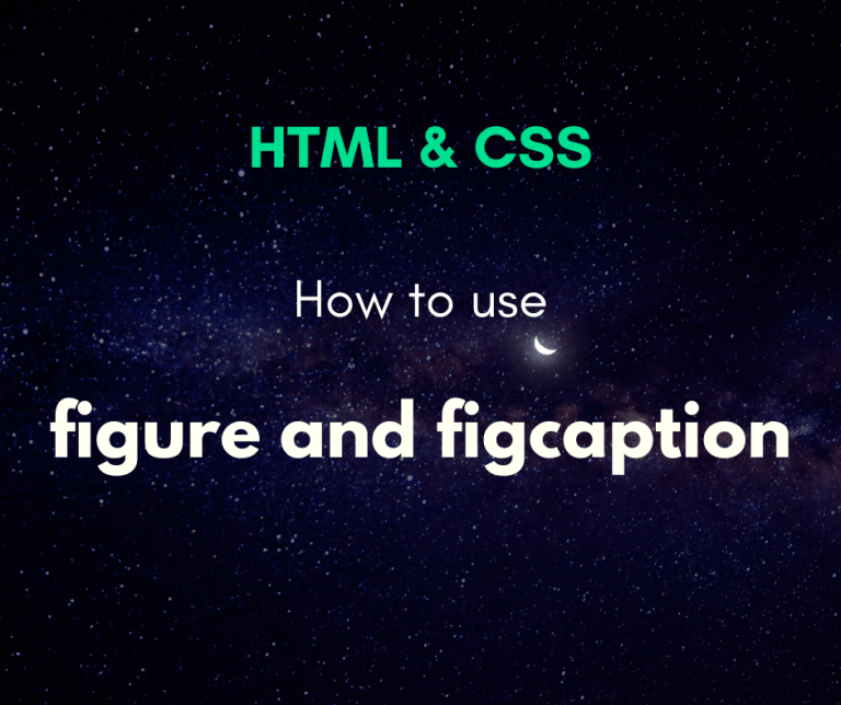 How to use figure and figcaption cover