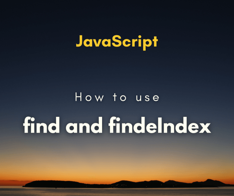 How to use find and findIndex cover