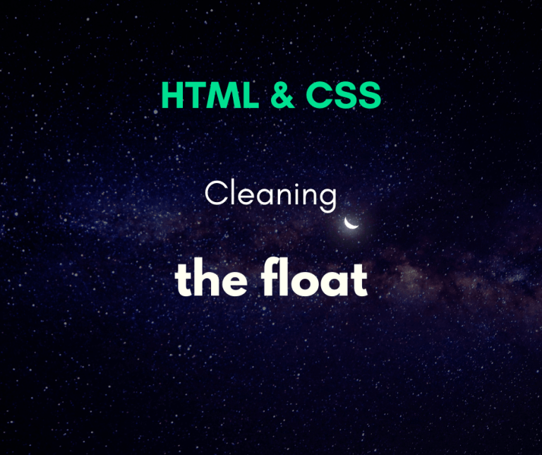 clean the float in CSS cover