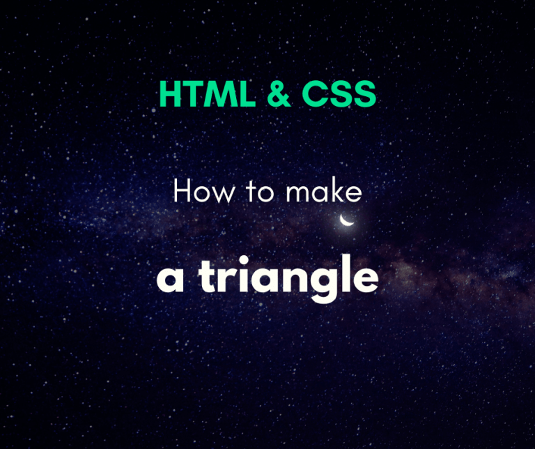 make a triangle with CSS cover