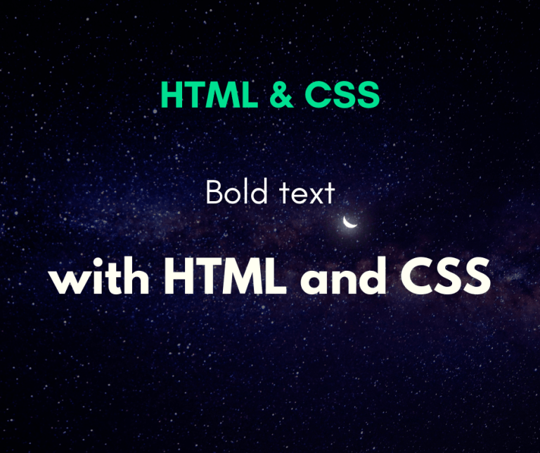 make text bold with HTML cover
