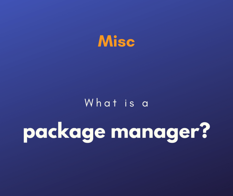 What is a package manager cover
