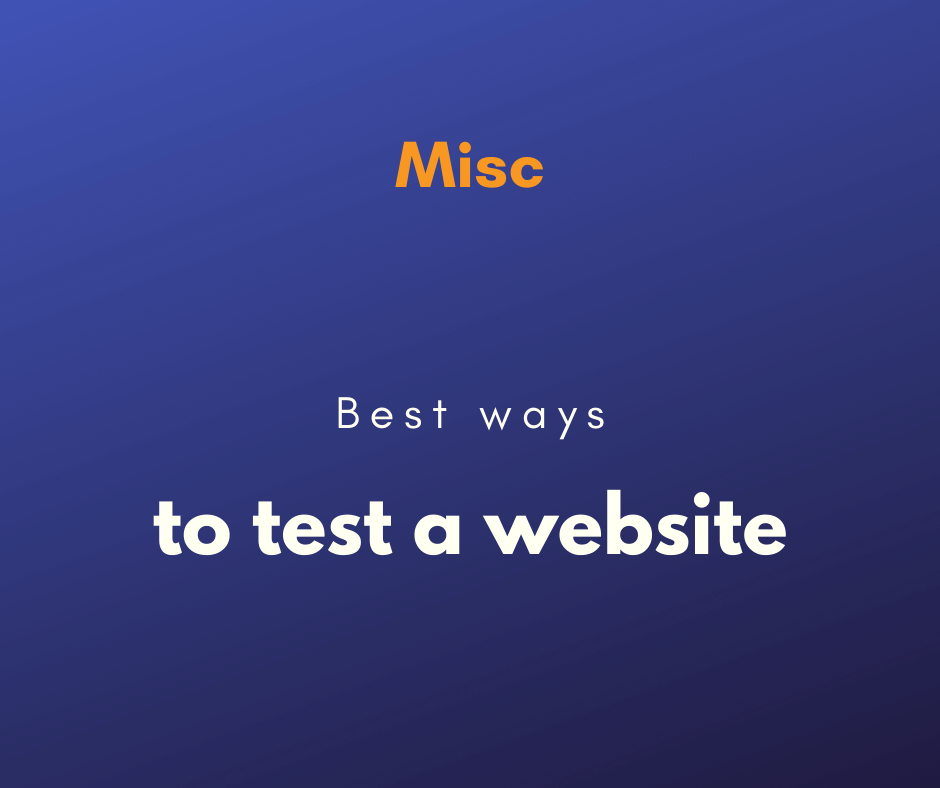test the performance of a website cover