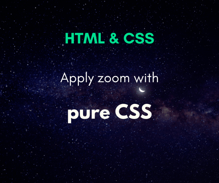 zoom at an image using pure CSS cover