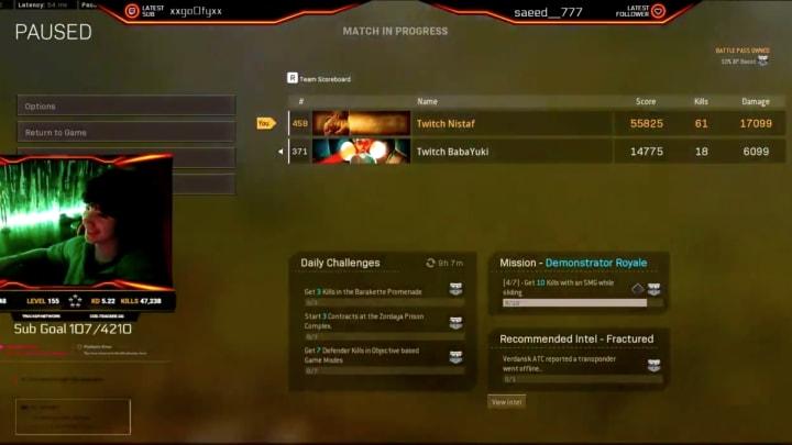El streamer portugués de 14 años, Nistaf, y su padre han establecido un nuevo récord de muertes para Dúos en Call of Duty: Warzone.
