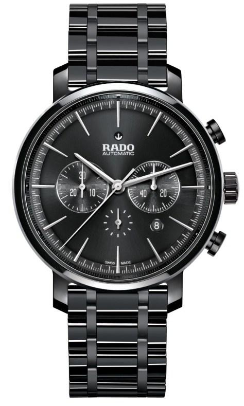 Rado DiaMaster Ceramic Automatic Chronograph Mate Negro pulido