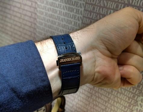 JeanRichard 1681 Blue Dial en oro rosa hebilla