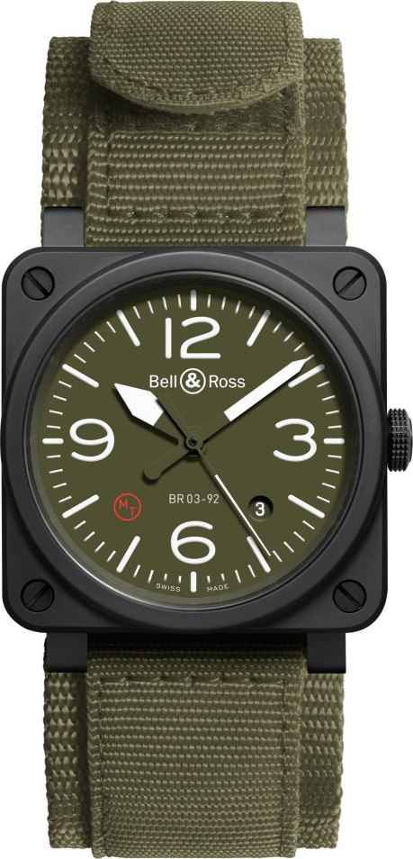 Bell and Ross BR03-92 Ceramic Military Type NATO
