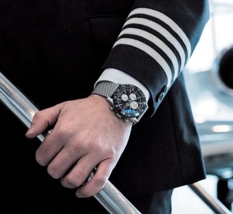 Breitling Chronoliner en la pulsera