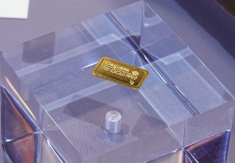 Degussa Colección Rothschild lingote más pequeño 1 gramo