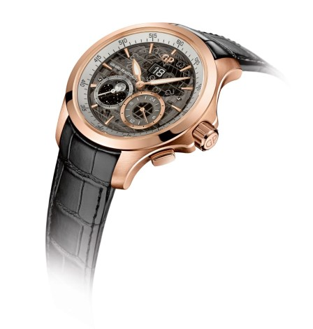 Girard-Perregaux Traveller Large Date Moonphase and GMT oro rosa perfil
