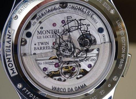 Montblanc chronograph exotourbillon vasco da gama - calibre