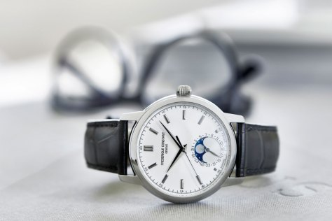 Frederique Constant Classic Manufacture Moonphase acero perfil