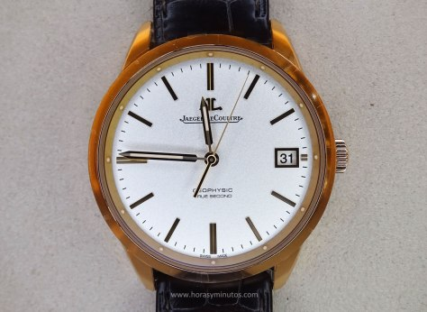 Jaeger-LeCoultre Geophysic oro rosa frontal