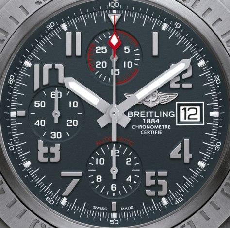 Breitling-Avenger-Bandit-esfera-Horas-y-Minutos