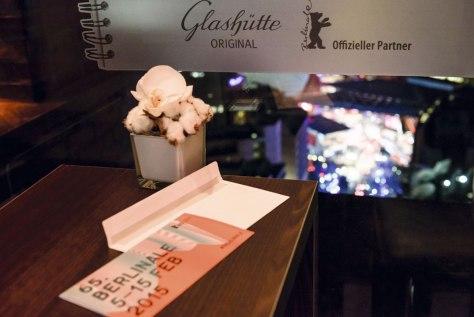 Vista desde el lounge de Glashütte Original en la Berlinale