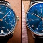 Nuevos IWC Portugieser Blue Dial. Fotos en vivo y precios