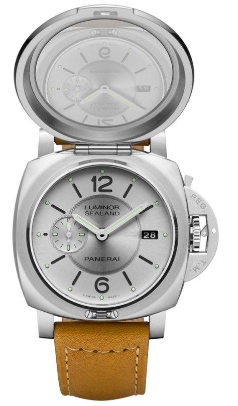 Panerai-Luminor-1950-Sealand-3-Days-Automatic-Acciaio-44-mm-abierto-Horas-y-Minutos
