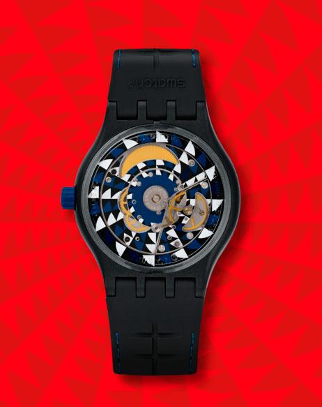 Reverso del Swatch Sistem51 modelo Notte