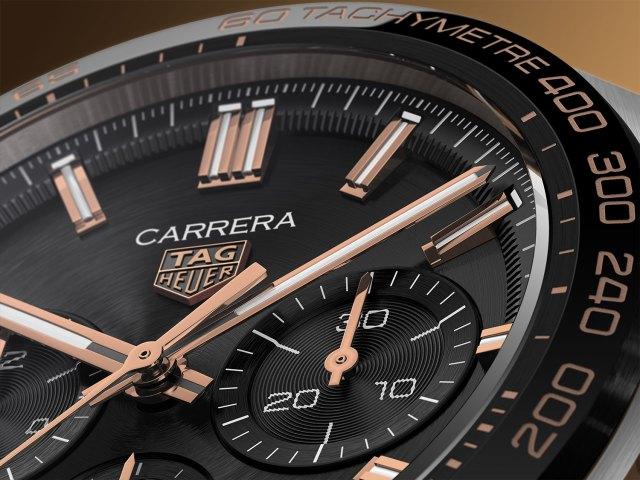Detalle del TAG Heuer Carrera Sport Chronograph negro y oro