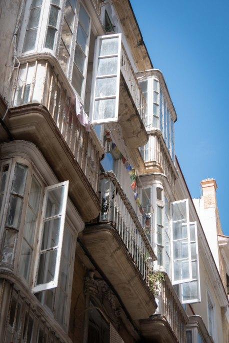 Windows and Prayer-flags, Cadiz
