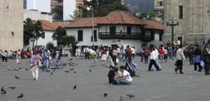 historischer Platz in Bogotá