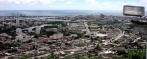 Hören in Cartagena Blick auf die Stadt