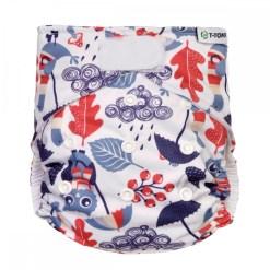 T-tomi mosható pelenka AIO baglyos - Állítható méretű tépőzáras