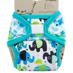 Petit Lulu XL PUL pelenkakülső Baby elephant blue