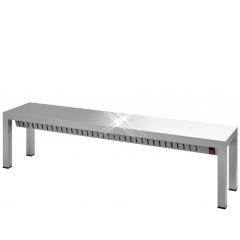 Rvs etagère verwarmd 1 hoog 1000x300x400 mm