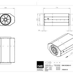 Geïsoleerde buisventilator 3220 m3/h – 3 standen (EMI 315 E2M 01)