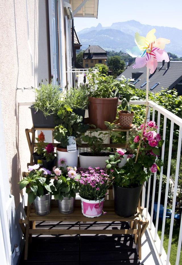 Moulin à vent sur balcon