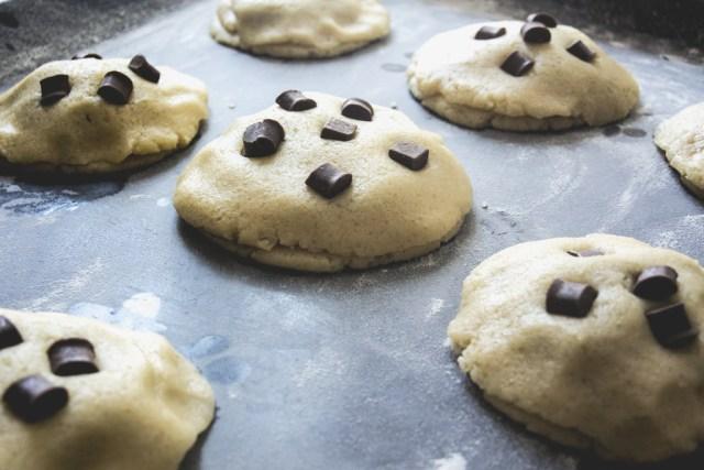 Cookie Ovomaltine avant cuisson