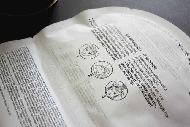 Instructions sleeping mask