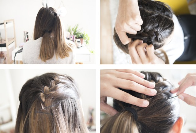 How to: Double french braid ponytail