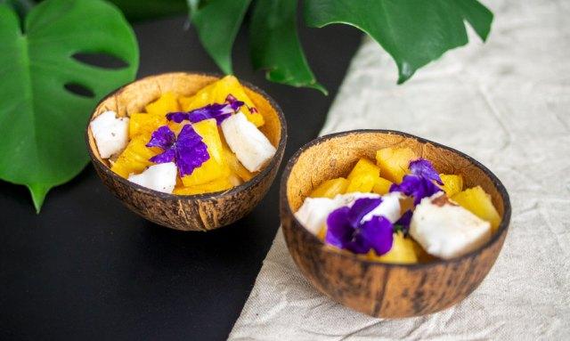 DIY coconut bowl