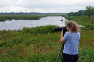 Lisa Traughber at the Horicon Marsh