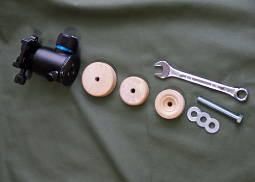 Pieces for Top of Car Monopod