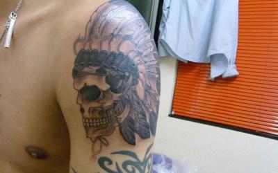 インディアンスカルのタトゥー画像
