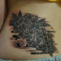 牡丹のタトゥー画像