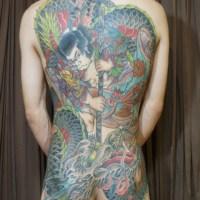 九紋龍史進のタトゥー画像