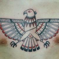 イーグルのトライバルのタトゥー画像