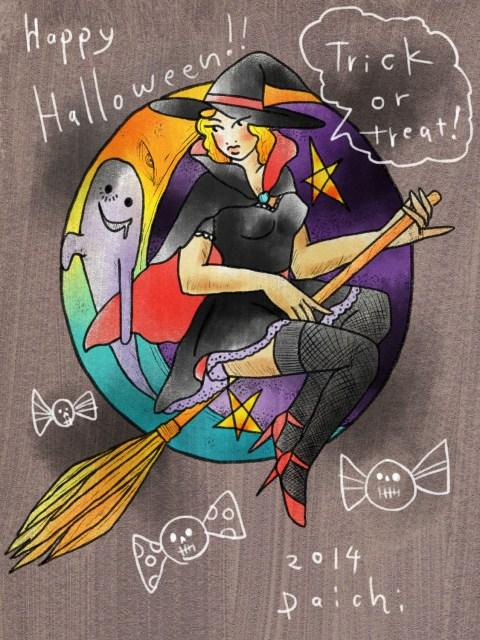 魔女のイラスト画像