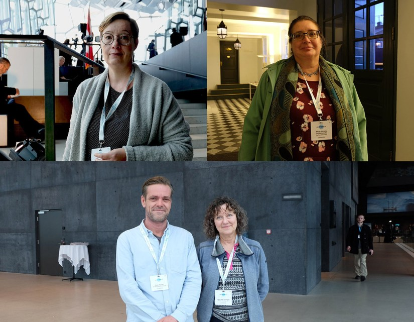 Clockwise from top left: Dr Kirsi Latola, Prof. Marit-Solveig Seidenkrantz, Dr Lise Lotte Sørensen and Dr Pelle Tejsner. Image credit - Annette Ekin