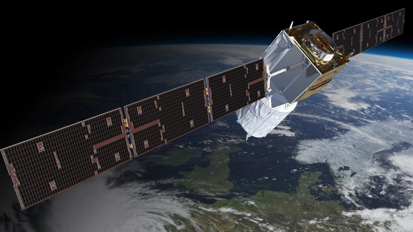 The European Space Agency's Aeolus satellite will observe wind speeds from space.
