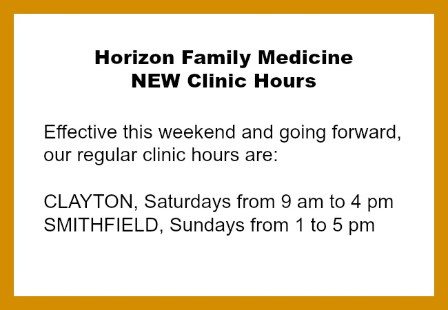 HFM clinic hours