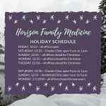Holiday Schedule Christmas 2017 and New Year's 2018