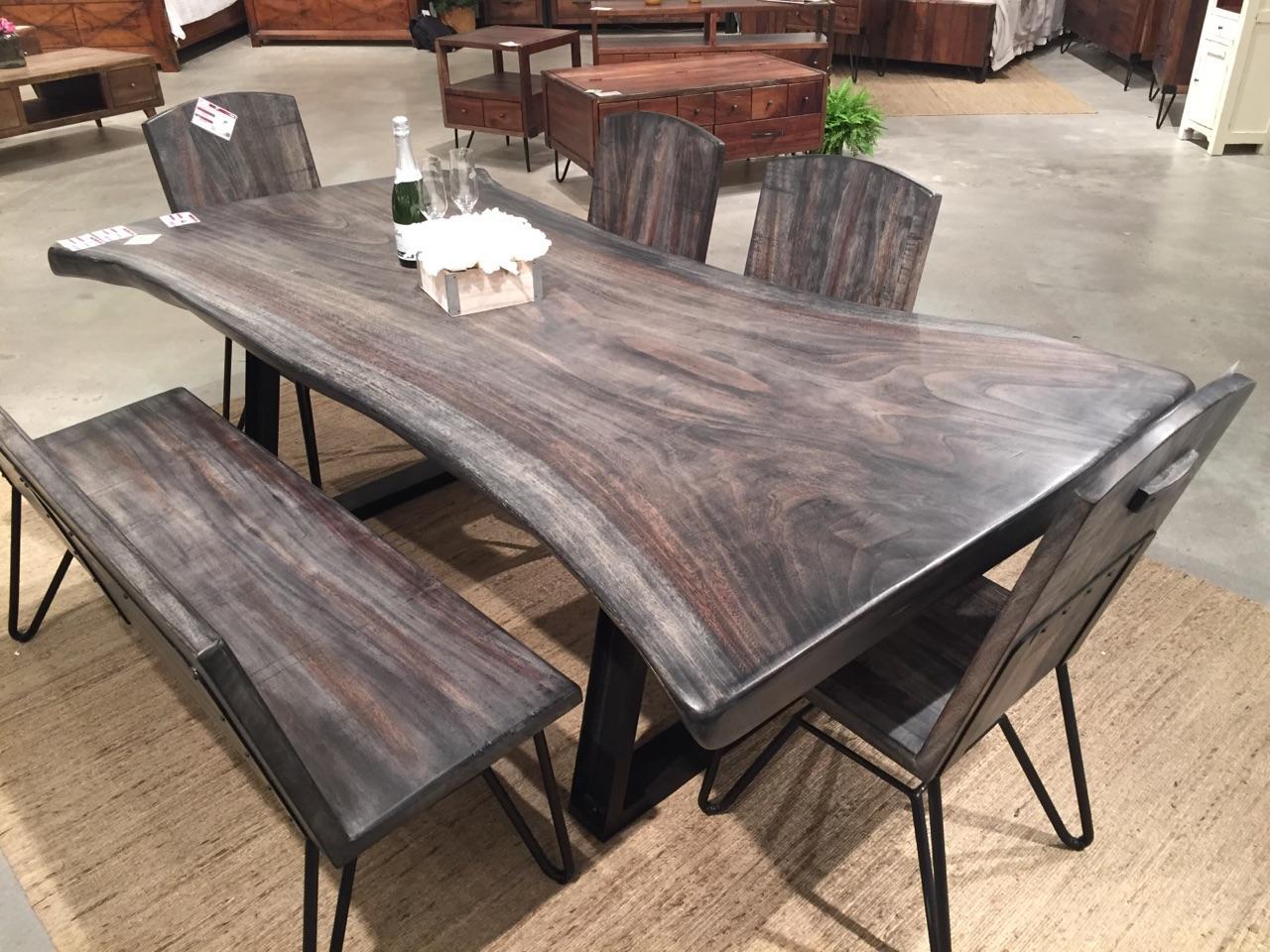 live edge walnut table