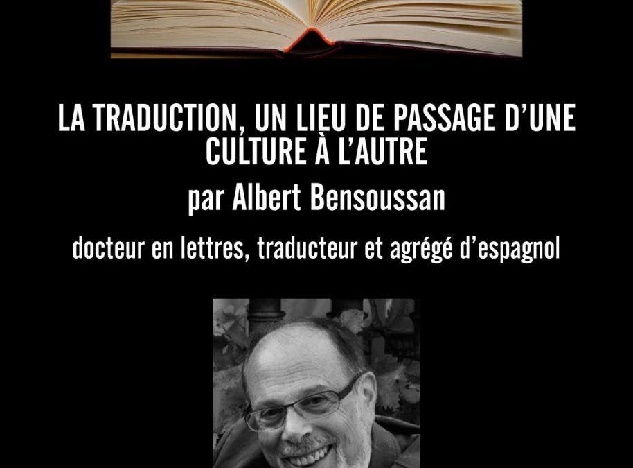 Conférence « La traduction, lieu de passage d'une culture à l'autre »